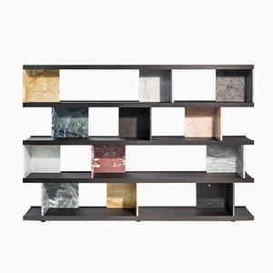 Librería Colonnata de mármol multicolor de Piero Lissoni para Salvatori
