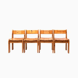 Pine Dining Chairs by Ate van Apeldoorn, 1972, Set of 4