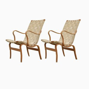 Eva Lounge Chairs by Bruno Mathsson for DUX, 1960s, Set of 2