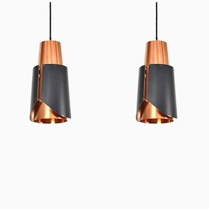 Østerport Pendants by Bent Karlby for Lyfa, 1960s, Set of 2