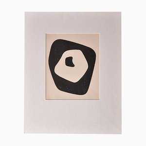 Silent Tension Woodcut by Jean Arp, 1951