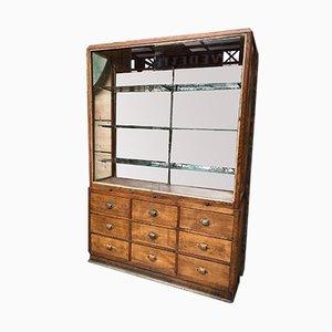 Vintage Industrial Display Cabinet, 1930s