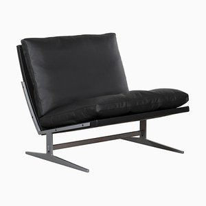 Danish BO-561 Green Leather Lounge Chair by Kastholm & Fabricius for Bo-Ex, 1960s