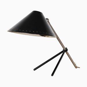 Lámpara de mesa Pinocchio holandesa en negro de H. Th. JA Busquet para Hala, años 50