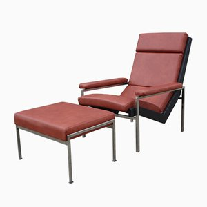Lotus Easy Chair with Footstool by Rob Parry for Gelderland, 1960s