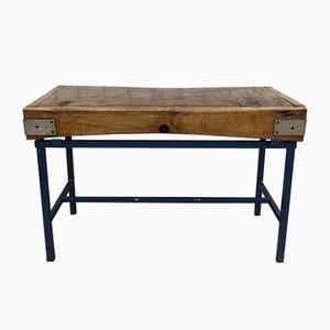 Bloque de carnicero inglés vintage de madera de arce