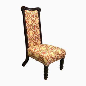 Stuhl aus Mahagoni mit hoher Rückenlehne, 19. Jh