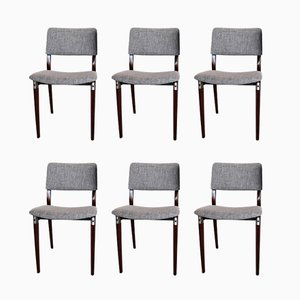 Italian Dining Chairs by Eugenio Gerli for Tecno, 1960s, Set of 6