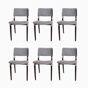 Italienische Esszimmerstühle von Eugenio Gerli für Tecno, 1960er, 6er Set