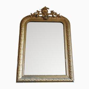 Specchio grande in stile Luigi Filippo dorato, Francia, XIX secolo