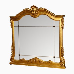 Italian Golden Wood and Gesso Mirror, 1960s