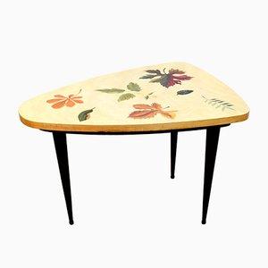 Tavolino da caffè basso tripode in legno di Anzani, anni '50