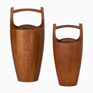 Vintage Teak Ice Buckets by Jens Quistgaard, Set of 2
