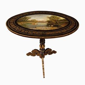 Mesa inglesa Mid-Century pequeña pintada