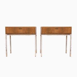 Mesas consola estilo Bauhaus vintage, años 60. Juego de 2