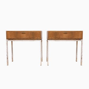 Vintage Bauhaus Style Console Tables, 1960s, Set of 2