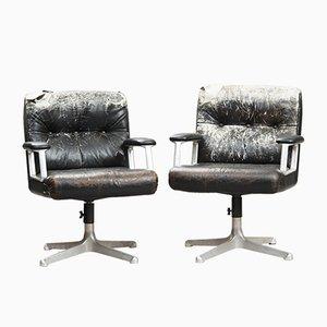 Chaises de Bureau P125 Vintage par Osvaldo Borsani pour Tecno, Set de 2