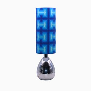 Lámpara de mesa era espacial cromada, años 70