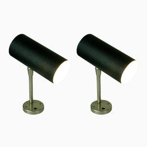 Mid-Century Austrian Black Wall Lights by J. T. Kalmar, Set of 2