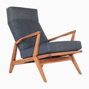 Skulpturaler Mid-Century Sessel mit hoher Rückenlehne