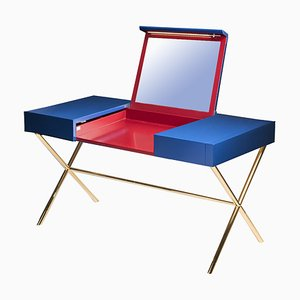 Secret Sin Dressing Table in Blue & Red by Giorgio Ragazzini for VGnewtrend