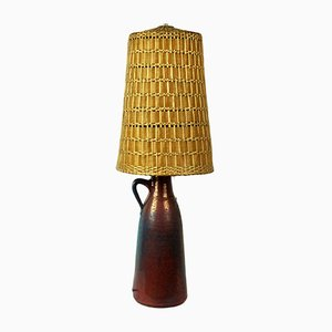 Vintage Scandinavian Modern Stoneware Table Lamp