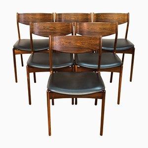 Dänische Esszimmerstühle aus Palisander von PE Jorgensen für Farso Stolefabrik, 1960er, 6er Set