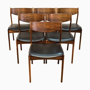 Danish Rosewood Dining Chairs by PE Jorgensen for Farso Stolefabrik, 1960s, Set of 6