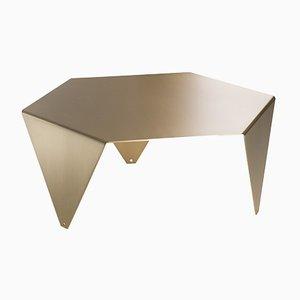 Tavolino da caffè Ruche in ottone spazzolato di Giorgio Ragazzini per VGnewtrend