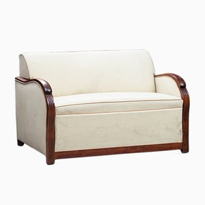 Art Deco French Wood Framed Sofa Bed
