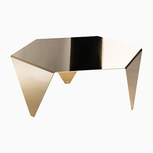 Ruche Coffee Table in Polished Gold by Giorgio Ragazzini for VGnewtrend