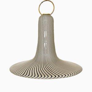 Lámpara colgante italiana de cristal de Murano de Venini, años 60