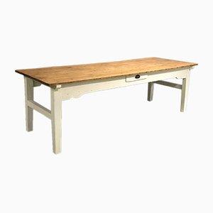 Tavolo da fattoria in legno di abete, XIX secolo