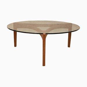 Table Basse en Teck par Sven Ellekaer pour Christian Linneberg, Danemark, 1960s