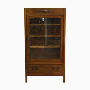 Italian Art Nouveau Fir Bookcase