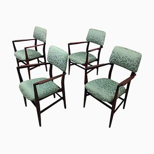 Italian Teak Dining Chairs by Vittorio Dassi, 1950s, Set of 4