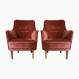 Samsas Chairs by Carl Malmsten for O.H. Sjögren, 1970s, Set of 2