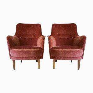 Samsas Chairs by Carl Malmsten for O.H. Sjögren, 1970s, Set of 2