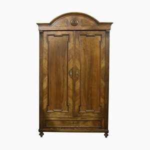Italian Walnut Wardrobe, 1890s