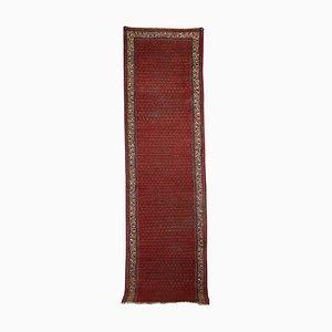 Tappeto vintage fatto a mano in lana e cotone