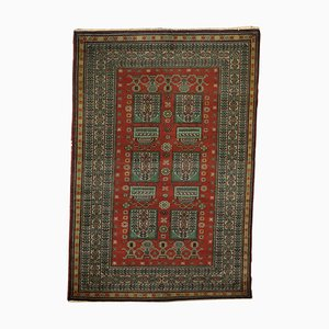 Vintage Handmade Wool & Cotton Carpet