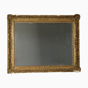 19th-Century Large Gilded Italian Mirror