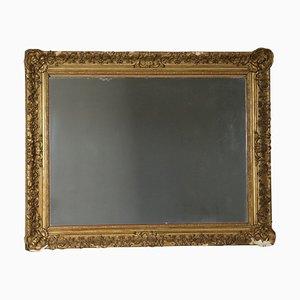 Espejo italiano grande dorado, siglo XIX