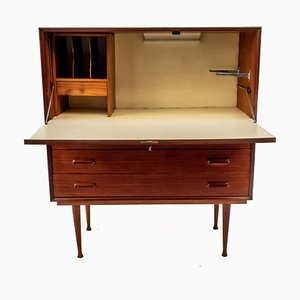 French Teak Secretaire, 1960s