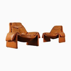 Italienische Modell P 60 Italienische Sessel, 1980er, 2er Set