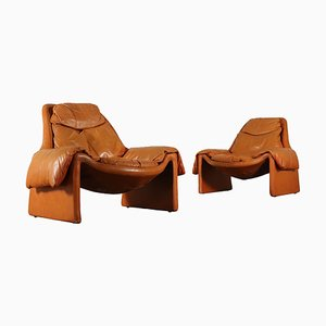 Model P 60 Italian Armchairs, 1980s, Set of 2