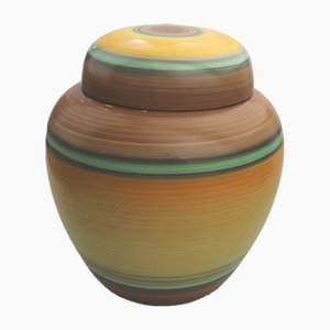 British Art Deco Ginger Jar Pottery by Eric Slater for Shelley, 1930s