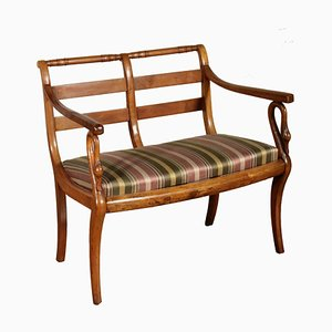 Small 19th Century Walnut Empire Bench