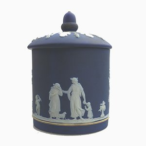 Antique English Biscuit Box from Wedgwood Jasperware, 1894