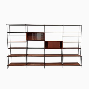 Large Danish Abstracta Modular Wall Unit by Poul Cadovius for Cado, 1950s